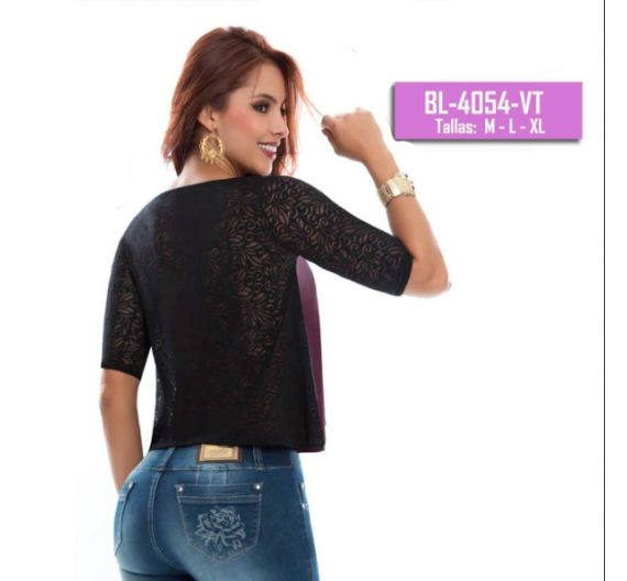 Blusa color violeta